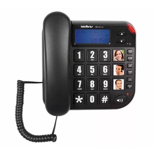 Telefone com Fio com Identificador de Chamadas Preto Tok Fácil ID Intelbras