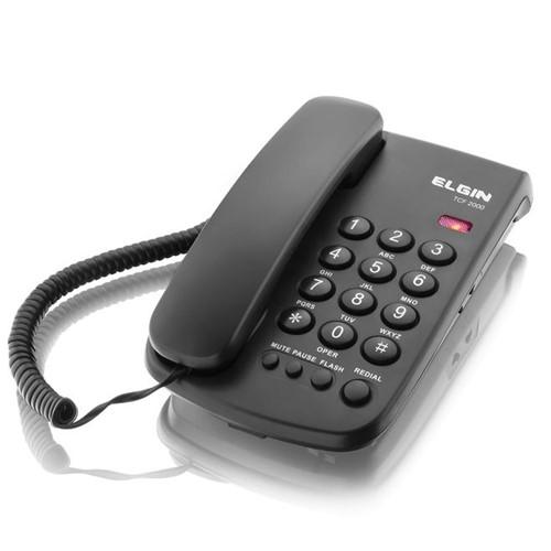 Telefone com Fio e Chave de Bloqueio TCF 2000 - Elgin