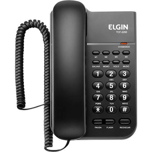 Telefone com Fio Elgin TCF 2200 Preto