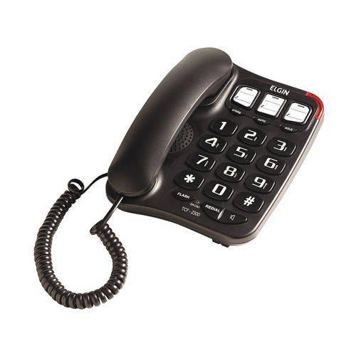 Telefone com Fio Elgin Tcf2300 com Chave - Preto