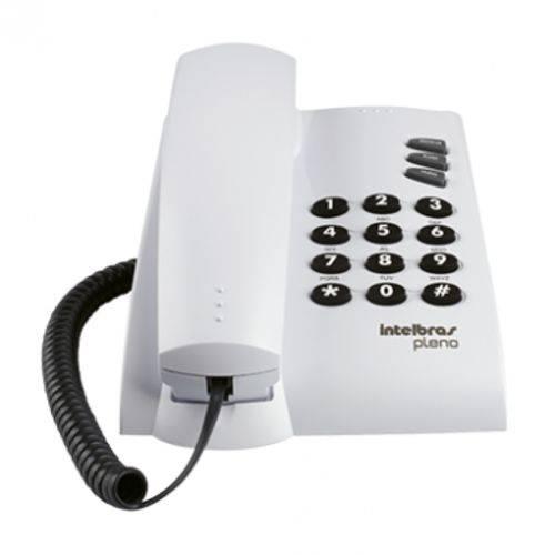 Telefone com Fio 3 Funções Pleno Branco Intelbras