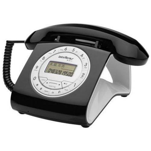 Telefone com Fio Intelbras com Identificador de Chamadas Tc 8312 - Preto