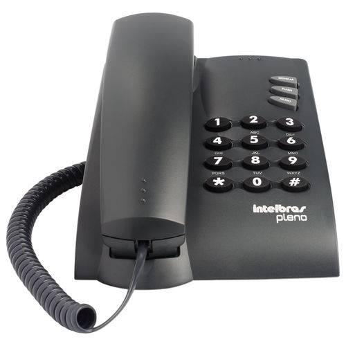 Telefone com Fio Intelbras Pleno com Chave Grafite