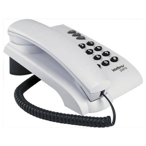 Telefone com Fio Intelbras Pleno Sem Chave – Cinza Ártic