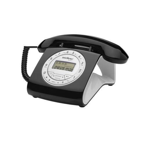Telefone com Fio Intelbras Retrô Tc8312 com Id Preto