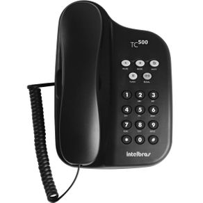 Telefone com Fio Intelbras TC 500 Preto