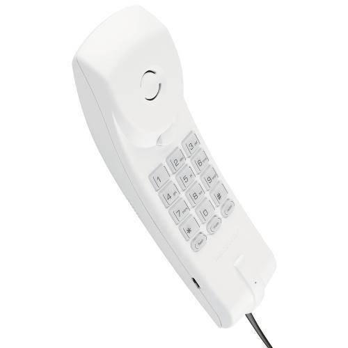 Telefone com Fio para Mesa Parede Tc20 - Cinza Ártico / Rosa