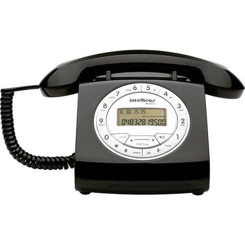 Telefone com Fio Retro Intelbras Tc 8312 Preto