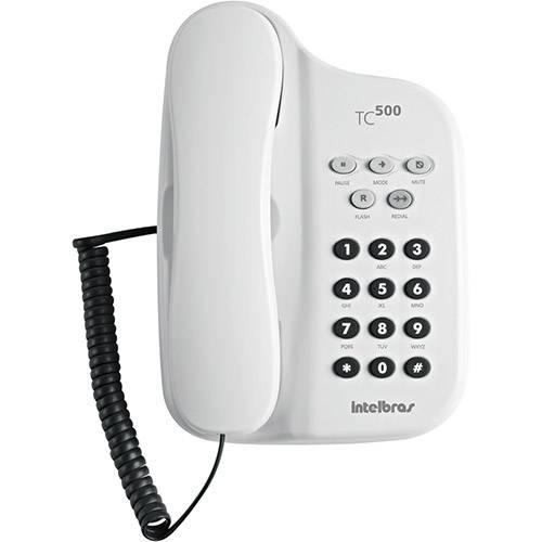 Telefone com Fio TC 500 Branco - Intelbras