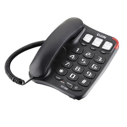 Telefone com Fio TCF 2300 Preto Elgin