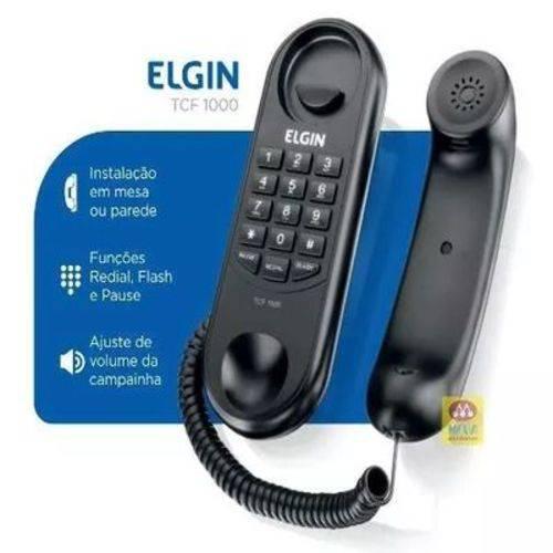 Telefone com Fio TCF1000 Flash e Rediscagem Preto Elgin
