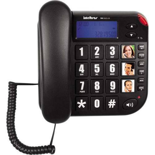Telefone com Fio Tok Fácil com Id Intelbras