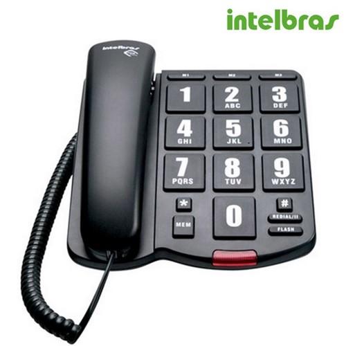 Telefone com Fio Tok Fácil Preto 4000034 - Intelbras