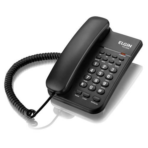 Telefone de Mesa e Parede TCF 2200 com Chave de Bloqueio Preto - Elgin