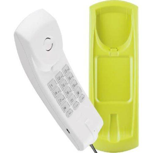 Telefone Gôndola Color Tc 20 Cinza Ártico/verde- Funções Mudo, Flash e Rediscar - Teclado Iluminado