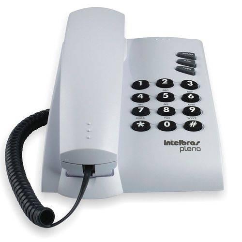 Telefone Intelbras Pleno 4080055 Cinza Ártico