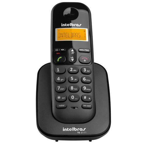 Telefone Intelbras Sem Fio Ts3111 Preto - 4123111 (ramal)