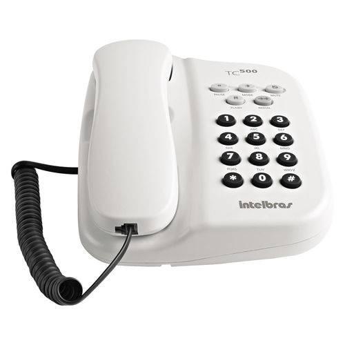 Telefone Intelbras Tc 500 Sem Chave Branco