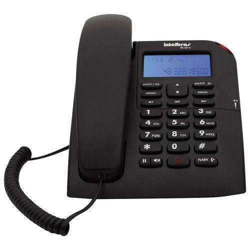 Telefone Intelbras TC60ID com Identicador Grafite