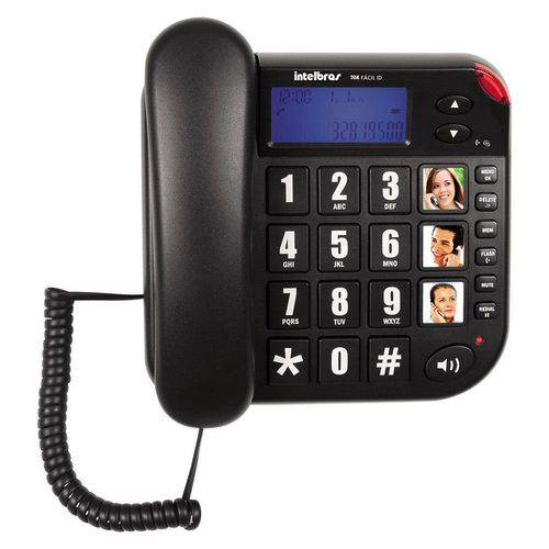 Telefone Intelbras Tok Facil Id com Identificador Grafite
