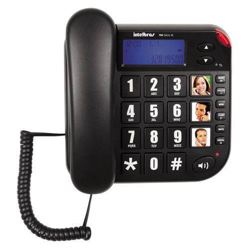Telefone Intelbras Tok Fácil Id com Identificador Grafite