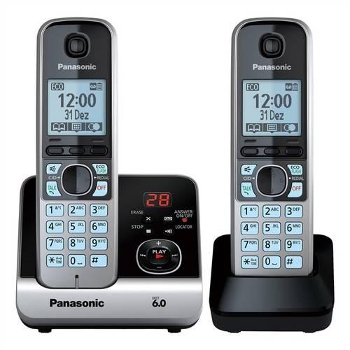 Telefone Panasonic Sem Fio Base + Ramal com Backup de Energia Kx-Tg6722Lbb