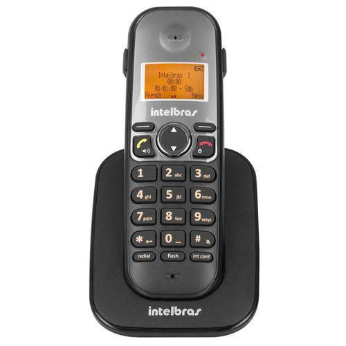 Telefone Ramal Sem Fio Ts5121 com Identificador de Chamadas, Preto - Intelbras