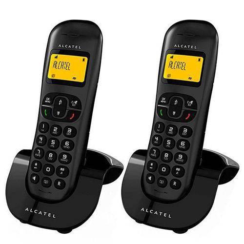 Telefone Sem Fio Alcatel com Identificador de Chamadas - Preto