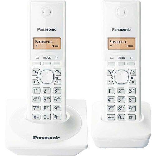 Telefone Sem Fio com Identificador de Chamadas KX-TG1712LBW Branco Panasonic