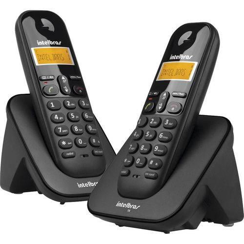 Telefone Sem Fio com Identificador de Chamadas + Ramal Ts3112 Preto-Intelbras