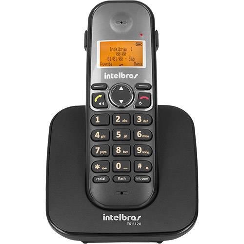 Telefone Sem Fio com Identificador TS 5120 Preto - Intelbras