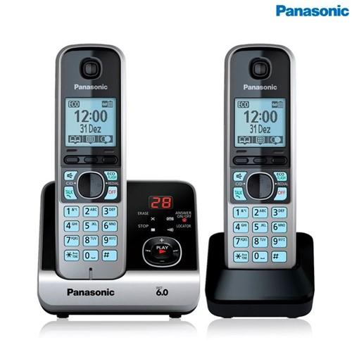 Telefone Sem Fio com Ramal KX-TG6722LBB Panasonic