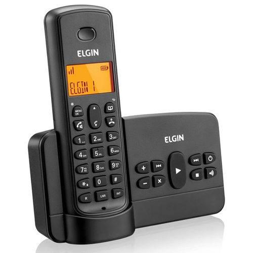 Telefone Sem Fio com Secretária Eletrônica Preto Tsf 800se Elgin