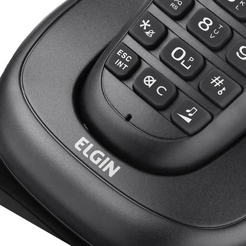Telefone Sem Fio DECT C/ Identificador de Chamadas, Viva Voz e Display Iluminado TSF 7001 - Elgin
