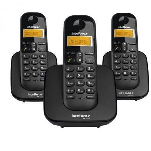 Telefone Sem Fio Digital com Dois Ramais Adicionais TS 3113