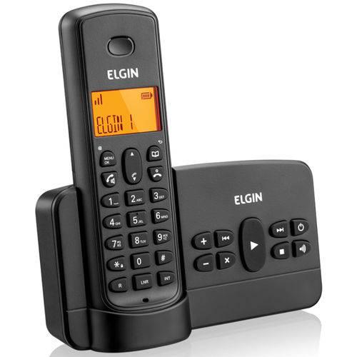 Telefone Sem Fio Elgin com Identificador de Chamada Tsf800se Preto