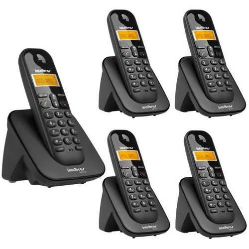 Telefone Sem Fio Intelbras Ts 3110 Preto 1,9 Ghz Dect 6.0 + 4 Ramal Sem Fio Intelbras Ts 3111 Preto 1,9 Ghz Dect 6.0