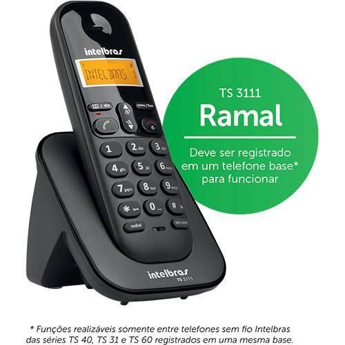 Telefone Sem Fio Intelbras Ts 3111 Ramal 1,9 Ghz Dect 6.0