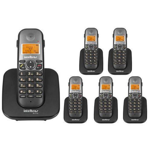 Telefone Sem Fio Intelbras Ts 5120 Viva-voz 1,9 Ghz Dect 6.0 + 5 Ramal Ts 5121 Viva-voz 1,9 Ghz Dect 6.0