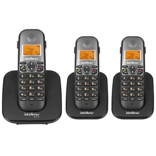 Telefone Sem Fio Intelbras Ts 5120 Viva-voz 1,9 Ghz Dect 6.0 + 2 Ramal Ts 5121 Viva-voz 1,9 Ghz Dect 6.0