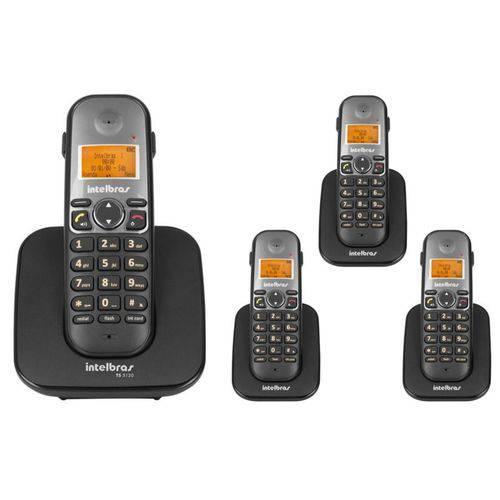 Telefone Sem Fio Intelbras Ts 5120 Viva-voz 1,9 Ghz Dect 6.0 + 3 Ramal Ts 5121 Viva-voz 1,9 Ghz Dect 6.0