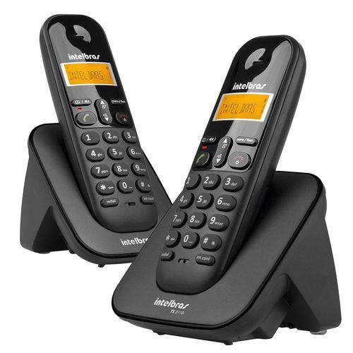 Telefone Sem Fio Intelbras TS3112 Digital com Ramal Adicional Preto