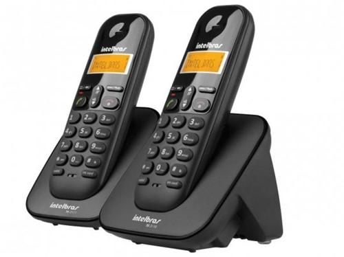 Telefone Sem Fio IntelBras TS3112 Preto Ramal Adicional e ID
