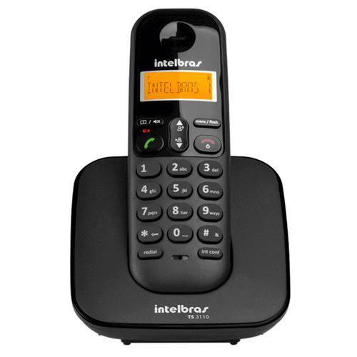 Telefone Sem Fio Intelbrás, Ts3110, Identificador de Chamadas, Preto