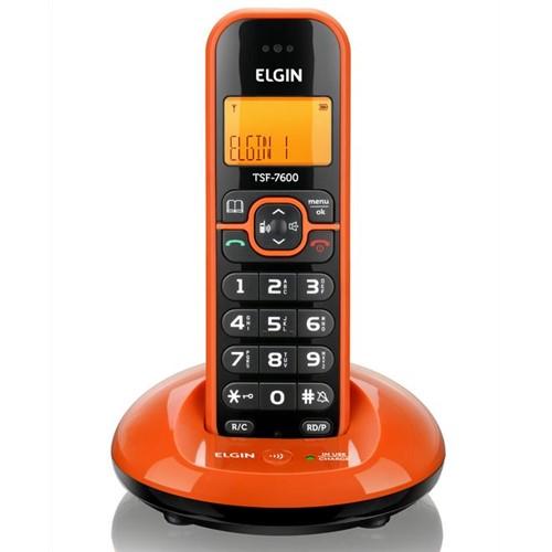 Telefone Sem Fio Laranja TSF 7600 Elgin