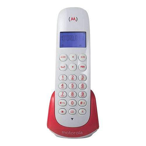 Telefone Sem Fio Motorola C/ Identificador Moto700s Branco/Vermelho