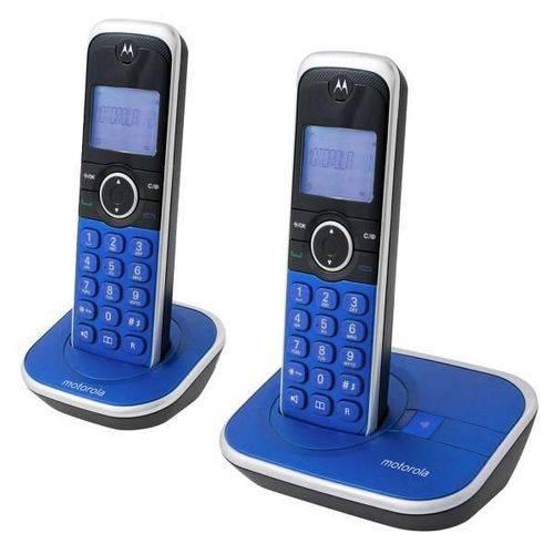 Telefone Sem Fio Motorola Gate 4800A-2 6.0 com Identificador de Chamadas ¿ Azul