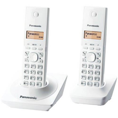 Telefone Sem Fio Panasonic Branco Dect 6.0 Kx-Tg1712Lbw com Identificador de Chamadas