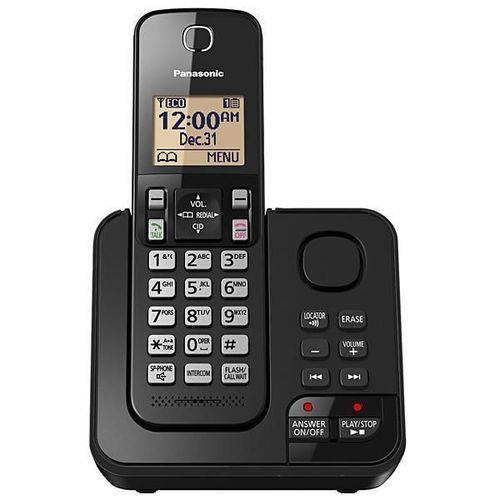 Telefone Sem Fio Panasonic com Atendimento Digital - Preto