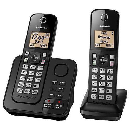 Telefone Sem Fio Panasonic TGC362 com Atendimento Digital - Preto